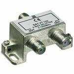 PremiumCord antenní rozbočovač na F konektory 1-2 výstupy 5-1000 MHz (8592220007386)
