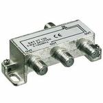 PremiumCord antenní rozbočovač na F konektory 1-3 výstupy 5-1000 MHz (8592220009441)