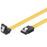 PremiumCord 0.5m SATA 3.0 datový kabel 1.5GBs / 3GBs / 6GBs, kov.západka, 90° (4040849950209) - PREMIUMCORD SATA 3.0 datový 50cm lomený 90°, kovové západky, kfsa-15-05