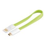 PremiumCord Kabel micro USB, A-B 0,2m magnetický, barva zelená / výprodej (8592220011574)