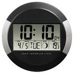 Hama PP-245 černá digitální nástěnné hodiny (104936-H)