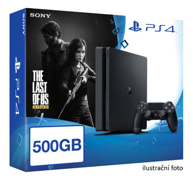 SONY PlayStation 4 - 500GB Black CUH-1216A + The Last of Us: Remastered