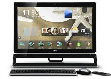 "ACER ASPIRE Z5771 / 23"" LED / Intel i5-2400S 2,5GHz / 1TB / 4GB / GeForce GT530 2GB / BT+USB3.0 /  W7HP / kl�v+my�"
