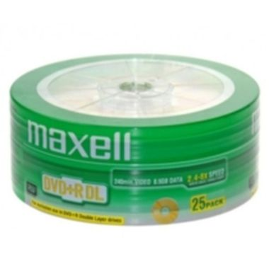 25ks DVD+R DL 8.5GB Maxell 2,4-8x / Cake
