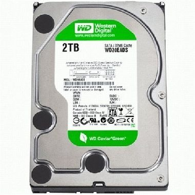 "WD CAVIAR GREEN POWER 2TB / 2TB / WD20EADS / 3,5"" / 32 MB Cache / SATAII / Intern�"