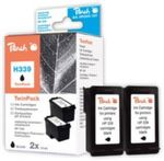 Peach Twin Pack Ink Cartridges black, compatible with HP C8767E, No. 339