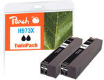 Peach remanufactured alternativní cartridge HP 973XL (L0S07AE) TwinPack černá / 2x 183 ml / new chip