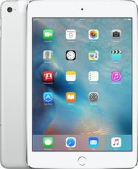 "Apple iPad Mini 4 128GB WiFi Cellular Silver / 7.9""/ 2048x1536 / Wi-Fi+LTE / 9h výdrž / 2x kamera / iOS9 / Stříbrný"