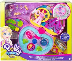 Mattel Polly Pocket GKL60 Tiny Mighty Backpack Compact / zábavný park v batůžku / od 4 let