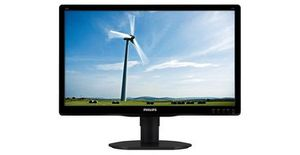 "19,5"" PHILIPS 200S4LMB/00 / WLED / 1600 x 900 / 16:9 / 5ms / 1000:1 / 250cd/m2 / VGA / DVI-D / Černý"