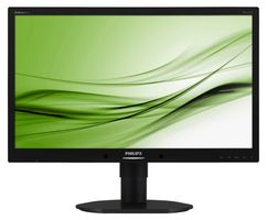 "23"" PHILIPS 231B4QPYCB-00 / LED / 1920 x 1080 / IPS / 16:9 / 14ms / 20mil:1 / 250cd-m2 / DVI+DP+VGA / Repro / Černý"