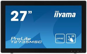 "27"" IIYAMA T2735MSC-B2 / AMVA+ LED / 1920 x 1080 / 5ms / 260cd-m2 / DVI / HDMI / VGA / USB / Repro / webcam  / Černý"