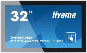 "32"" IIYAMA T3234MSC-B3X Touch / LED / 1920 x 1080 / 16:9 / 8ms / 3000:1 / 405cd-m2 / DVI / VGA / USB / Repro / Černý"