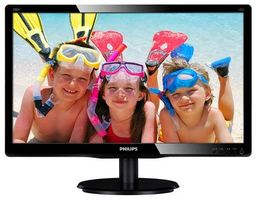 "19.5"" PHILIPS 200V4QSBR / WLED / 1920 x 1080 / MVA LED / 16:9 / 8ms / 3000:1 / 250cd/m2 / VGA+ DVI / Černý"