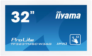"32"" IIYAMA TF3237MSC-W3AG / FHD Touch / LED / 16:9 / 8ms / 3000:1 / 500cd-m2 / HDMI+DVI+VGA / USB / bílá"
