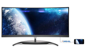 "34"" PHILIPS BDM3490UC / AH-IPS / 3440x1440 / 21:9 / 5ms / 1000:1 / 300 cd/m2 / DP / HDMI / 4xUSB / Repro / Černý"