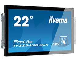 "21.5"" IIYAMA ProLite TF2234MC-B3X / IPS / 1920 x 1080 / 16:9 / 8ms / 250cd-m2 / VGA / DVI / USB / IP65 / dotykový"