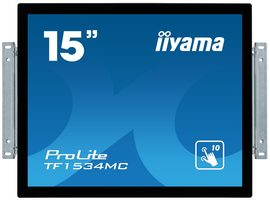 "15"" IIYAMA ProLite TF1534MC-B6X / 1024x768 / 8ms / 330cd / VGA + HDMI + DP / USB / IP65 / VESA"