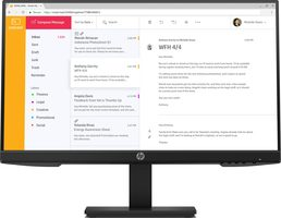 "23.8"" HP P24h G4 / IPS / LED / 1920 x 1080 / 16:9 / 5ms / 1000:1 / 250cd-m2 / HDMI+DP+VGA / Pivot / 60Hz / černá"