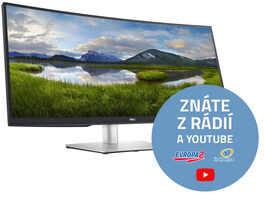 "34"" DELL P3421W černá / LED / 3440x1440 / IPS / 21:9 / 8ms / 1000:1 / 300cd-m2 / HDMI+ DP+USB-C / 3YNBD"