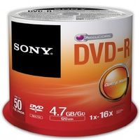 SONY DVD-R 4.7GB / 16x / 50 ks