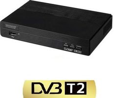 Maximum XO-110T / DVB-T & T2 HEVC-H.265 set top box / HDMI / USB / černá