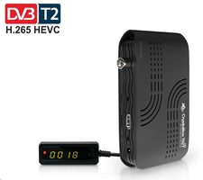 AB CryptoBox 702T mini Set-top box / DVB-T|T2 příjmač / FHD / HDMI / USB / H.265 (HEVC)