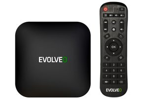 EVOLVEO MultiMedia Box C4 / 8K Ultra HD / HDR / Quadro Core 2 GHz / 4GB RAM / 32GB ROM / WiFi / LAN / Bluetooth / HDMI