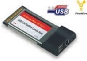 DeLock PCMCIA adapter / 61258 / 2×FireWire / 2× USB