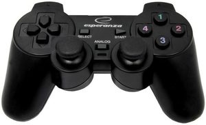 Corsair gamepad s vibracemi / Gamepad / USB / PC, PS, PS2, PS3 / černý