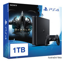 SONY PlayStation 4 - 1TB slim Black CUH-2016B + Diablo III: Ultimate Evil Edition