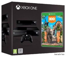 Microsoft XBOX ONE 500GB + Kinect + Zoo Tycoon Game of the year