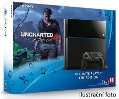 SONY PlayStation 4 - 1TB Black CUH-1216B + Uncharted 4: A Thief's End