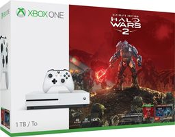 Microsoft Xbox One S 1TB White + Halo Wars 2 Ultimate Edition - Special Bundle