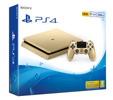 SONY PlayStation 4 - 500GB Slim Gold CUH-2016A / zlatý