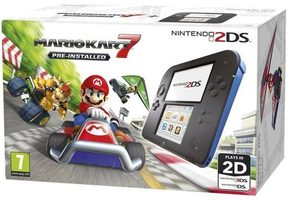 Nintendo 2DS Black & Blue + Mario Kart 7
