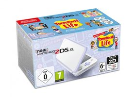 New Nintendo 2DS XL White & Levander + Tomodachi pre-inst