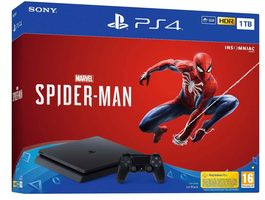 SONY PlayStation 4 - 1TB slim Black CUH-2116B + SPIDERMAN / černý