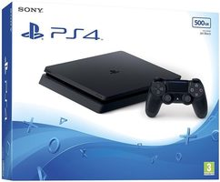 SONY PlayStation 4 - 500GB Slim Black CUH-2216A / černý