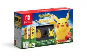 Nintendo Switch + Joy-Con Yellow (žlutá) + Pokémon:Let's Go Pikachu + Pokéball