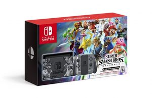 Nintendo Switch + Joy-Con Grey (šedá) + Super Smash Bros. Ultimate edition