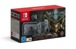 Nintendo Switch + Joy-Con Grey (šedá) + Diablo III Limited Edition