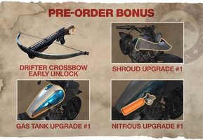 PS4 Days Gone preorder bonus (Nitrous, Gas tank, shroud upgrade, crossbow)