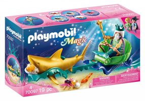 Playmobil Magic 70097 Král moří se žraločím kočárem /od 4 let