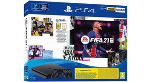 SONY PlayStation 4 - 500GB slim + FIFA 21 + 2x DualShock / černý
