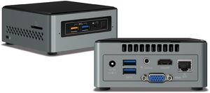 Intel NUC Kit 6CAYS J3 / J3455 2.6GHz / DDR3L / USB3.0 / WiFi / BT / Intel HD 500 / M.2 / W10