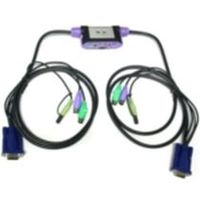 ATEN KVM switch CS-62A PS/2 2PC mini , audio support