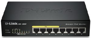D-Link DGS-1008P / Switch / 8-port 10/100/1000 Mbps / 4x PoE