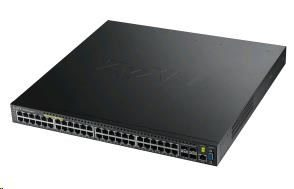 ZyXEL XGS3700-48HP / 52-port Gigabit L2+ Managed Poe Switch / 48x Gigabit RJ45 / 4x 10G SFP+ / 802.3at / 460W