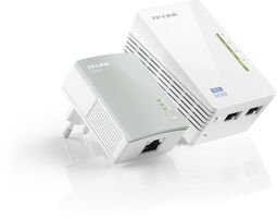 TP-LINK TL-WPA4220KIT / Powerline Repeater AV500 / 802.11n / 2.4GHz 300Mbps / 2x LAN / HomePlug AV